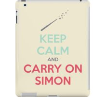 Keep Calm and Carry On Simon—Multi-Color Text iPad Case/Skin