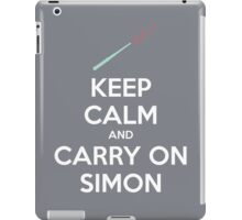 Keep Calm and Carry On Simon—White Text iPad Case/Skin