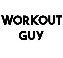 WORKOUT GUY Photographic Print