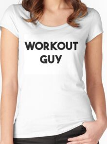 WORKOUT GUY Women's Fitted Scoop T-Shirt