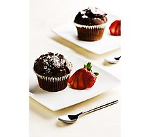 Chocolate Muffins Photographic Print