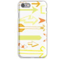 Arrows in orange iPhone Case/Skin
