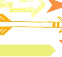Arrows in orange Sticker