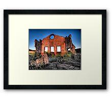 MIne, Mine , Mine - Blast Furnace Park , Lithgow NSW 0 The HDR Experience Framed Print