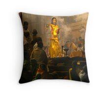 Hindu Priest at Varanasi Throw Pillow