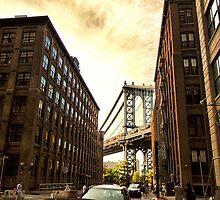 Manhattan Bridge Sunset by wonderlandnyc