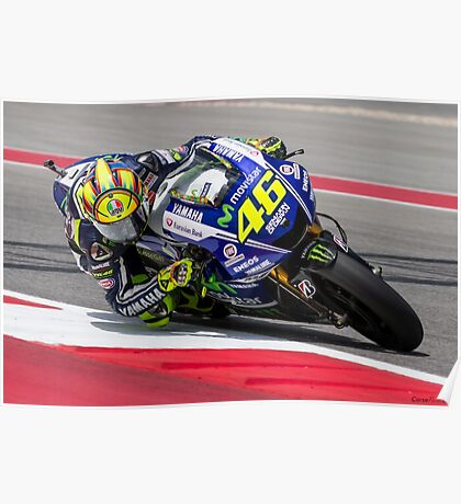 Valentino Rossi at Circuit Of The Americas 2014 Poster