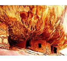 House on Fire Ruin - Utah Photographic Print