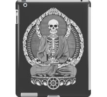 Skeleton Buddha White Halftone iPad Case/Skin