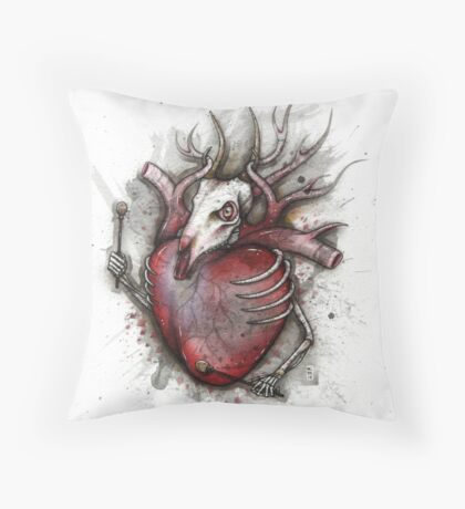 Deer Heart Beater Throw Pillow