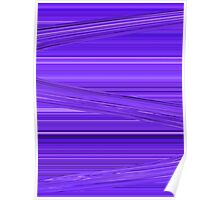 Bright Purple Violet Lines Design Digital Art Poster