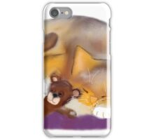 Cat Nap with Teddy Bear iPhone Case/Skin
