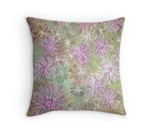 Blossoms # 2 by Pauline Campos Throw Pillow