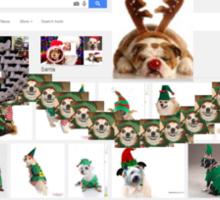 elf dog Sticker