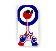 Retro Mod target and scooter Art Samsung Galaxy Case/Skin