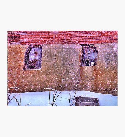 Skull in a Snowstorm Photographic Print