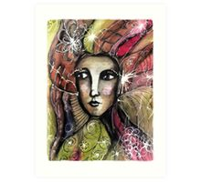 She thinks she was a bird in a past life... Art Print