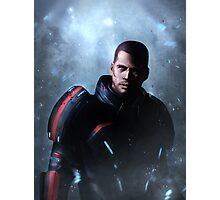 Mass Effect: Commander Shepard Photographic Print