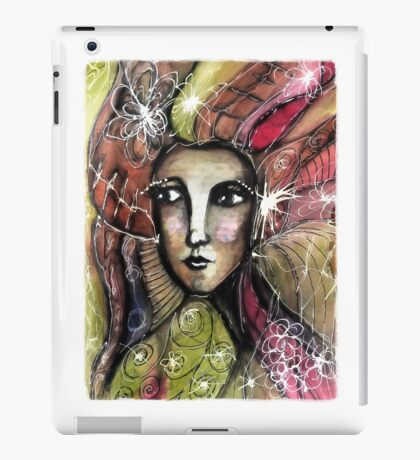 She thinks she was a bird in a past life... iPad Case/Skin