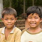 Boys at Angkor Thom by Adrianne Yzerman