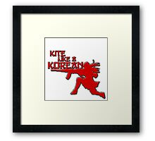 Kite Like a Korean Framed Print