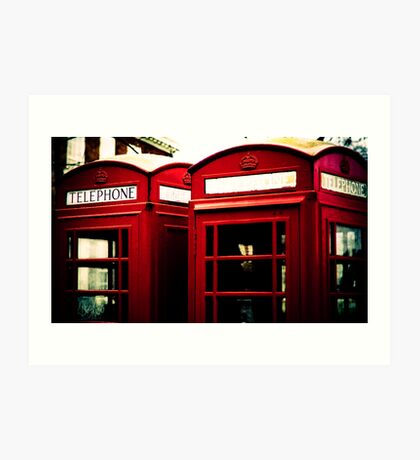 Richmond Telephone Boxes Art Print
