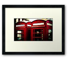 Richmond Telephone Boxes Framed Print