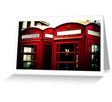 Richmond Telephone Boxes Greeting Card