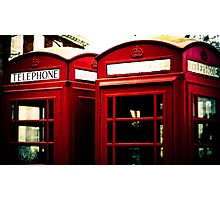 Richmond Telephone Boxes Photographic Print