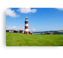 Smeaton's Tower: Lighthouse on Plymouth Hoe Canvas Print
