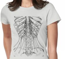 Corset Bones Womens Fitted T-Shirt