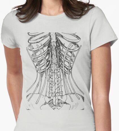 Corset Bones Womens Fitted T-Shirt