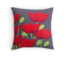 Vintage Poppy Throw Pillow