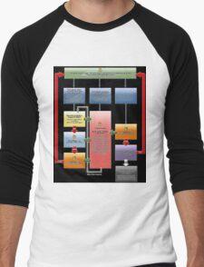 Yugioh Fast Effects Flow Chart Men's Baseball ¾ T-Shirt