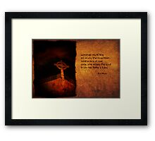 summer night fire as a haiga Framed Print