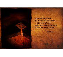 summer night fire as a haiga Photographic Print