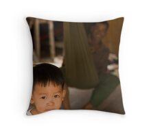 Boy at Kompong Kleang Throw Pillow