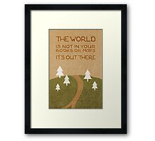 The World Out There Framed Print