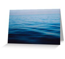 sunrise at sea, calm ocean ripples Greeting Card