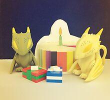 Birthday Dragons by FendekNaughton