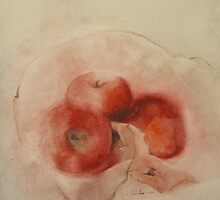 Tokiko Anderson Three Apples by TokikoAnderson