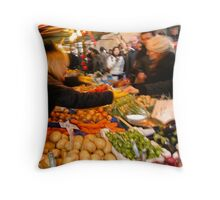 Portobello Fruit and Veg Throw Pillow