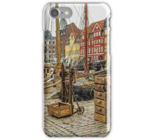Fish crates in Nyhavn iPhone Case/Skin