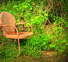 Vintage Garden Chair by thatstickerguy