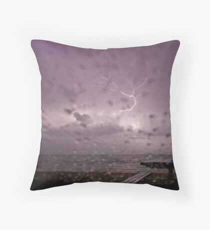 Electrical storm. Blairgowrie. Throw Pillow