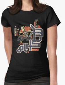TURNTABLE SAMURAI Womens Fitted T-Shirt