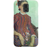 La Mousmé is an oil painting on canvas completed by Vincent van Gogh in 1888 Samsung Galaxy Case/Skin