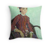 La Mousmé is an oil painting on canvas completed by Vincent van Gogh in 1888 Throw Pillow