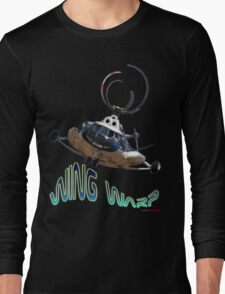 Mil Helicopter Wing Warp T-shirt Design Long Sleeve T-Shirt