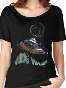Mil Helicopter Wing Warp T-shirt Design Women's Relaxed Fit T-Shirt
